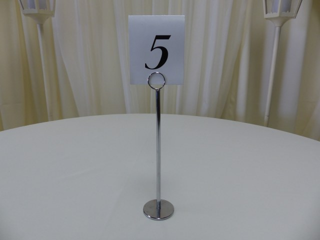 12inch Silver Table Marker