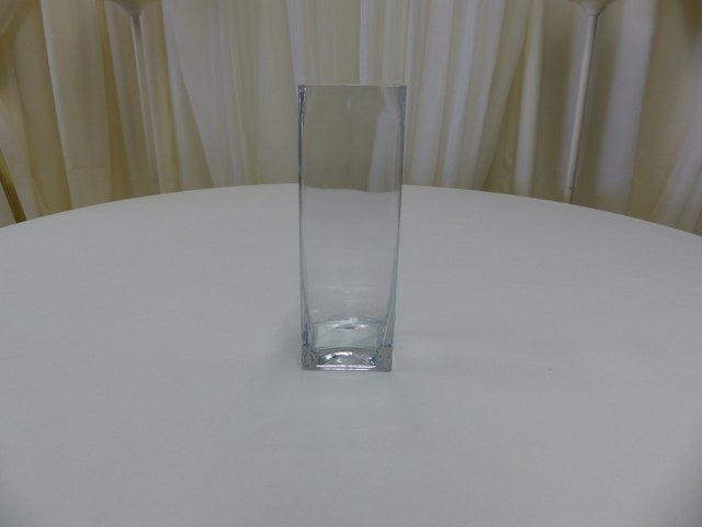 12inch x 3.5inch Straight Sided Square Vase