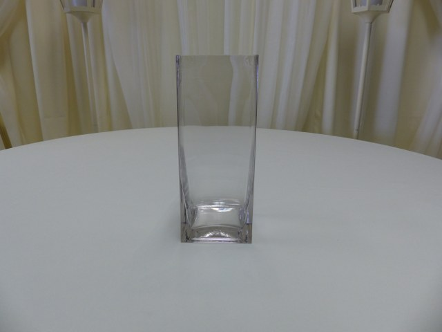 12inch x 4inch Straight Sided Square Vase