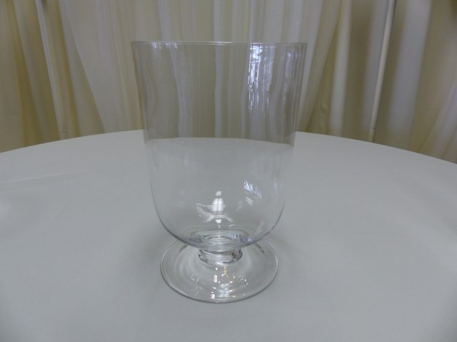13inch Footed Hurricane Vase