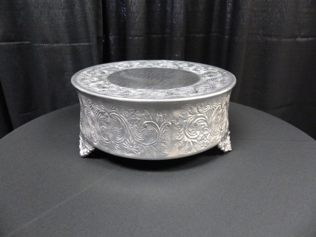 14inch Silver Round Plateau Cake Stand_640x480