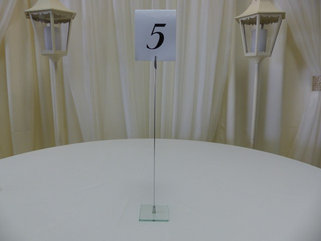 16inch Clear Base Table Marker