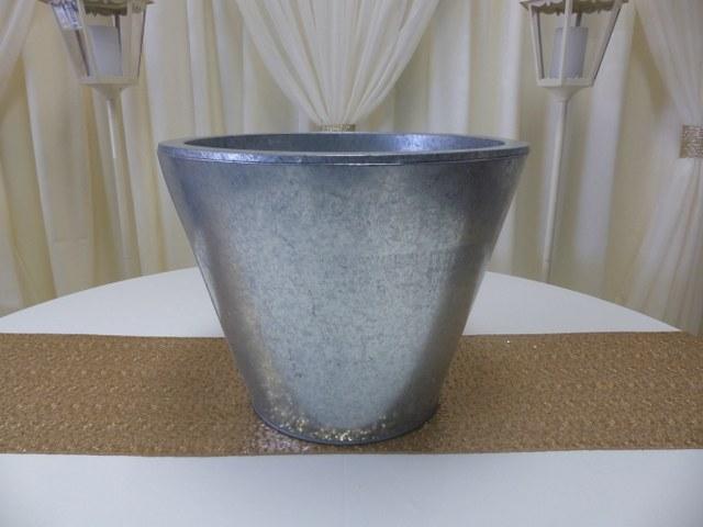 16inch round silver metal pot