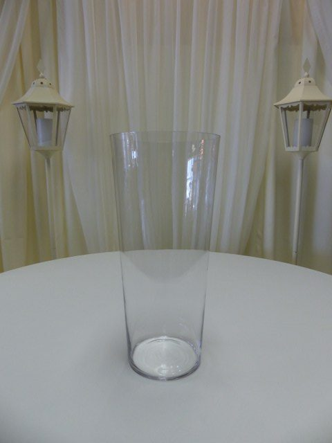 20inch x 9inch Tapered Cylinder Vase