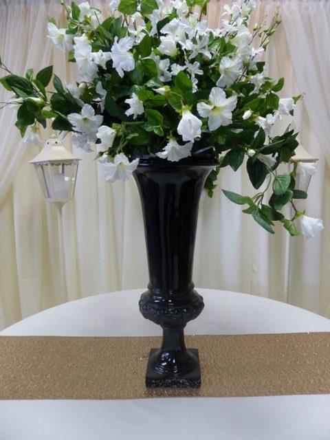 27.5inch Black Fibreglass Urn