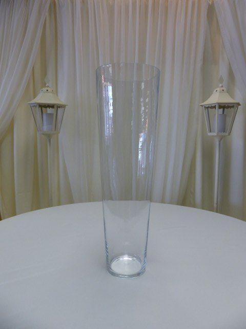 28inch x 10inch Tapered Cylinder Vase