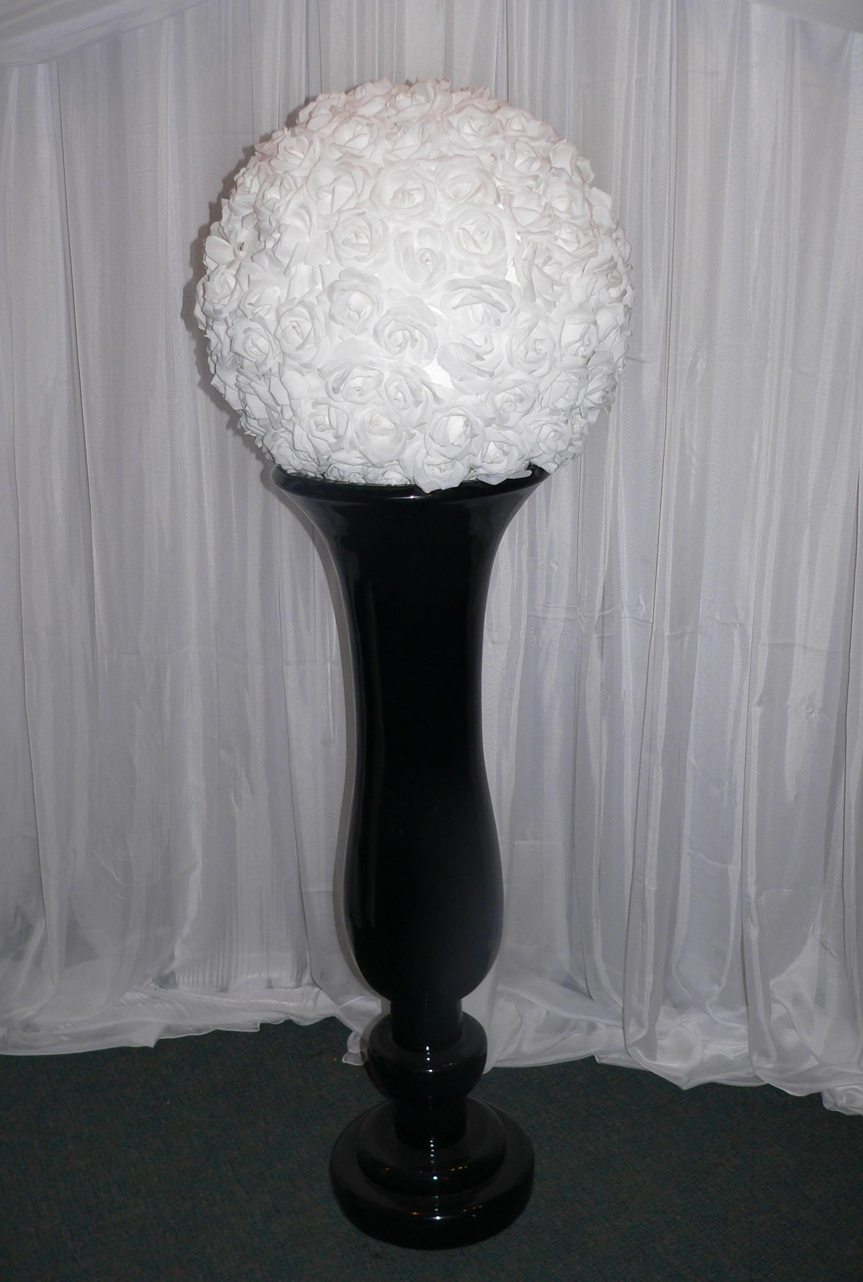 4 Foot Fibreglass Black Urn