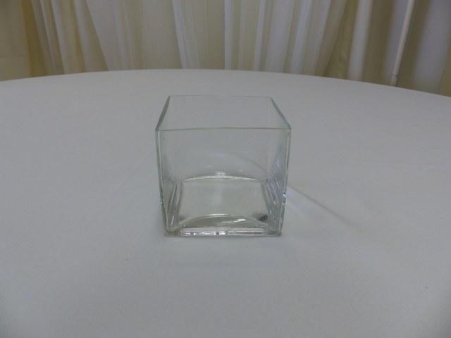 4.5inch x 4.5inch Square Cube Vase