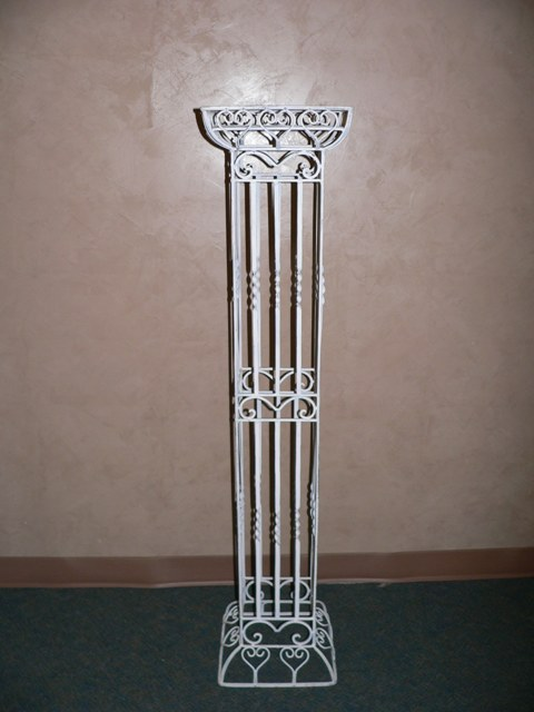 5ft Square Pillar-Distress White iron