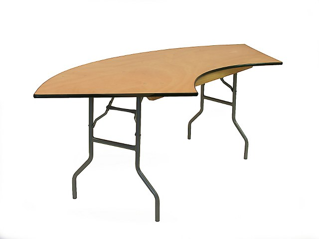 7Ft Serpentine Table