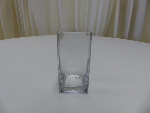 7inch Straight Sided Square Vase