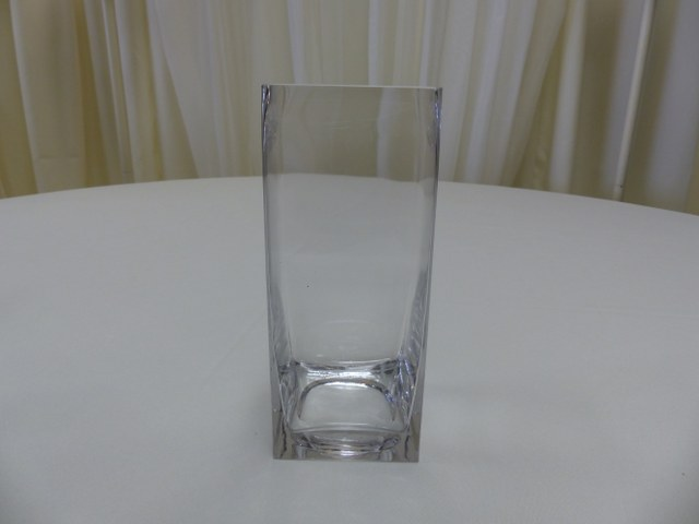 8.5inch Straight Sided Square Vase