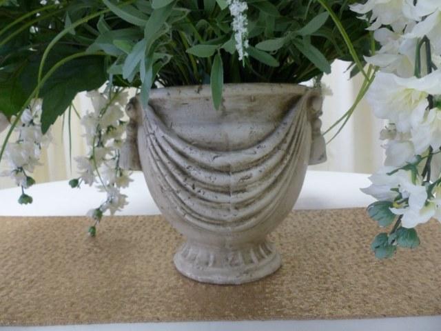 9.5inch Tan Stone Vase