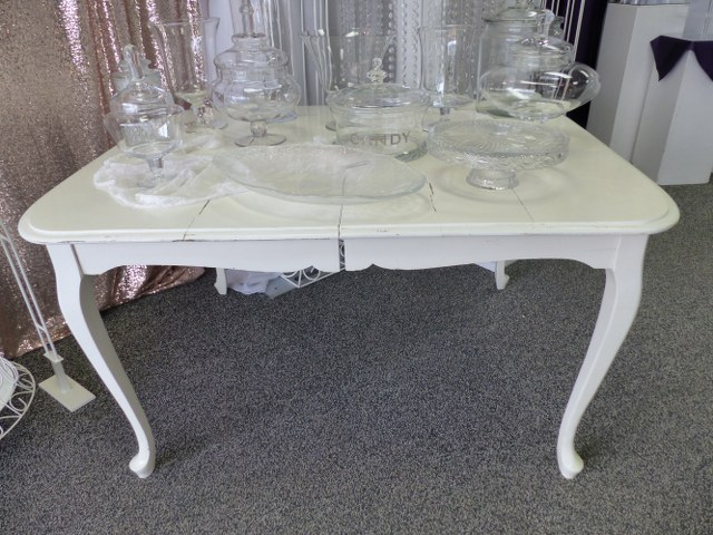 Antique Off White French Provincial Table