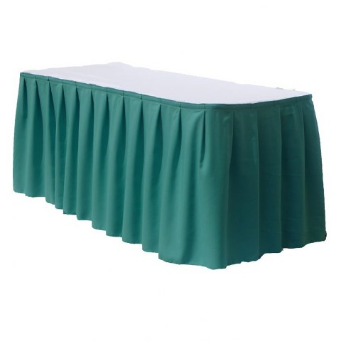Aqua Polyester Table Skirt