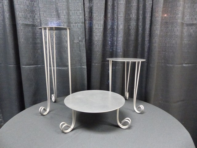 Basic Pewter Cake Stand Set