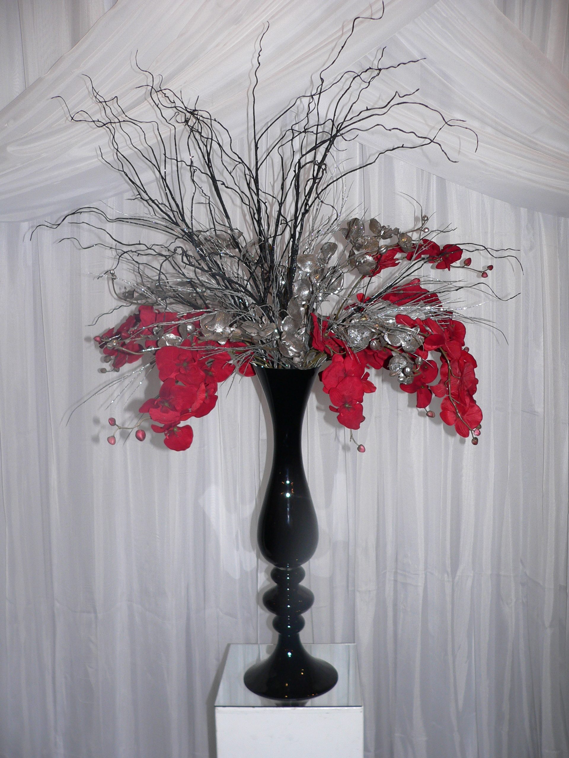Black Finial Vase