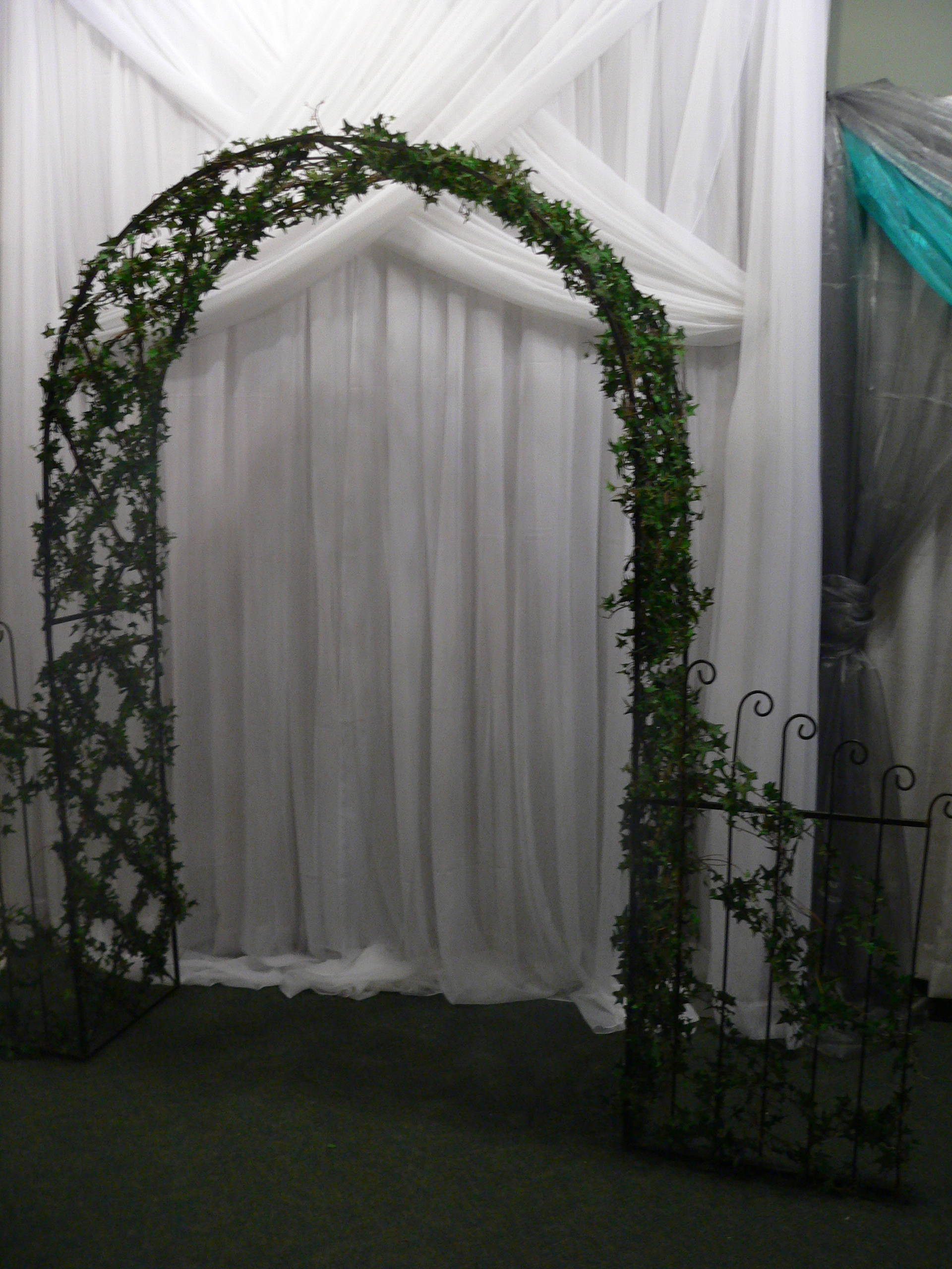 Black Ivy Arch with Gates