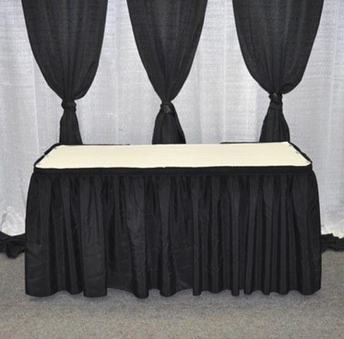 Black Table Skirt