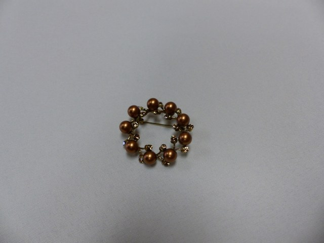 Brown Pearl Brooch