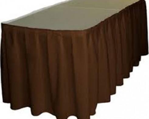 Brown Table Skirt