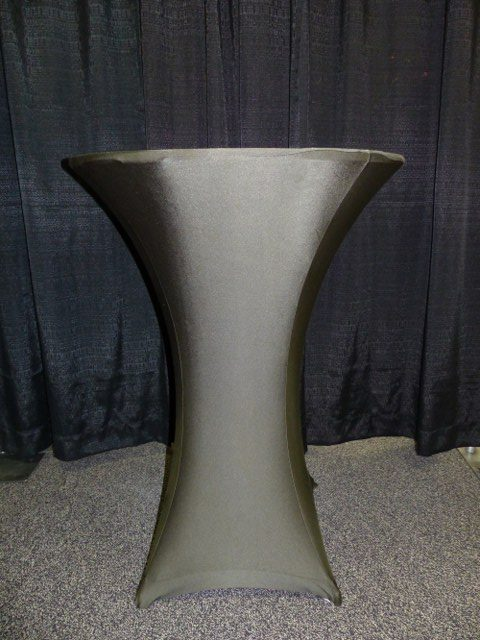 Charcoal Spandex Table Cover