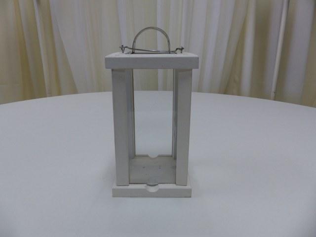 Cream Wood Lantern