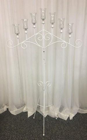 Cupid Candelabra-7 Light White Iron (2)_300x480