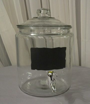 Glass with Chalkboard Label Beverage Dispenser