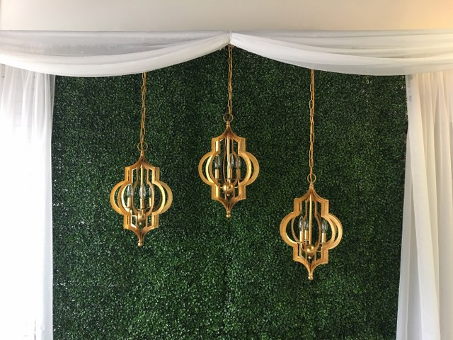 Gold Metal Pendant Chandelier
