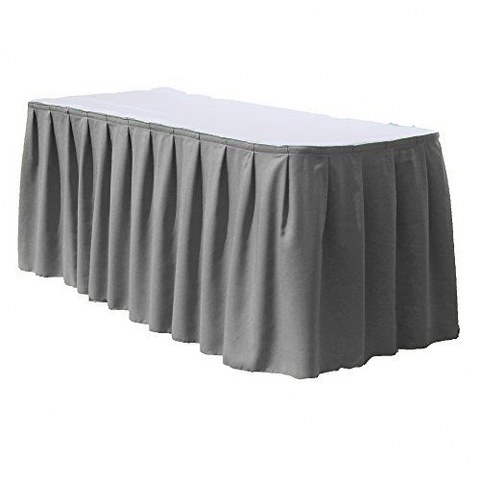 Grey Polyester Table Skirt