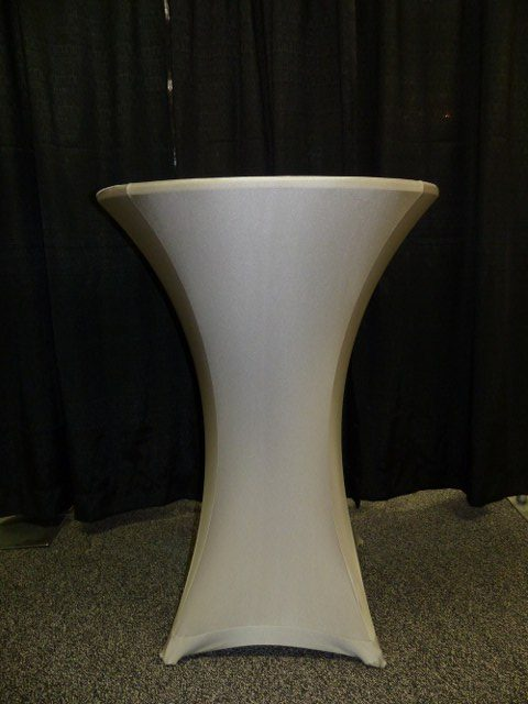 Grey Spandex Table Cover