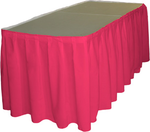 Hot Pink Table Skirt