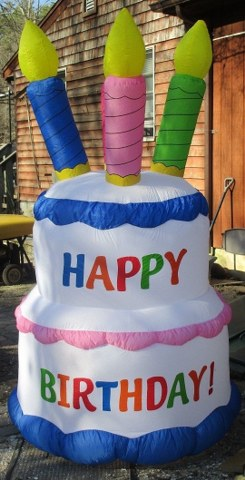 Admirable Inflatable Birthday Cake Affordable Elegance Inc Personalised Birthday Cards Bromeletsinfo