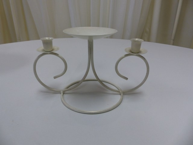 Ivory Clover Unity Candle Holder