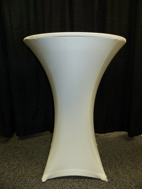 Ivory Spandex Table Cover
