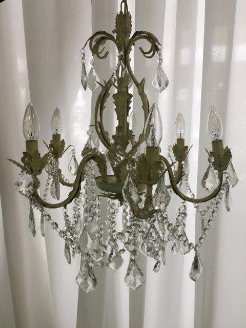 Medium Six Light Ivory Chandelier_640x480