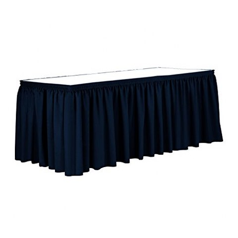 Navy Polyester Table Skirt