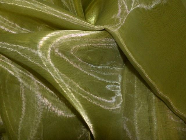 Olive Green Draping Organza