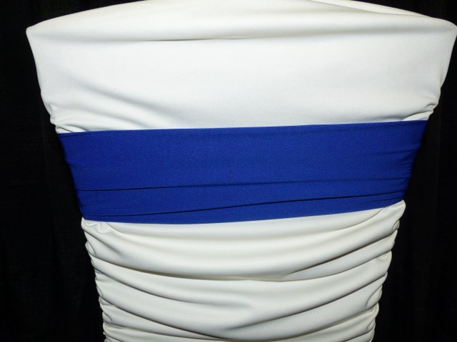 Royal Blue Spandex Chair Band