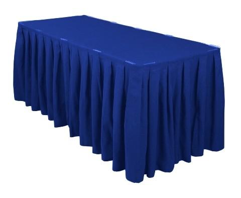 Royal Blue Table Skirt
