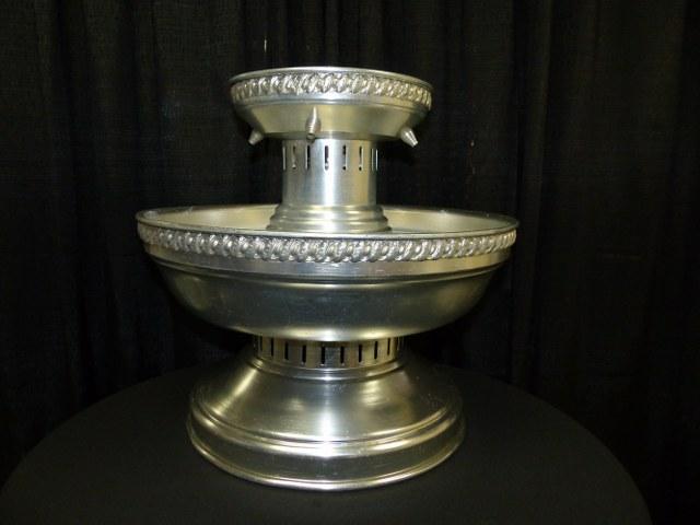 Silver Beverage Fountain 5 Gallon