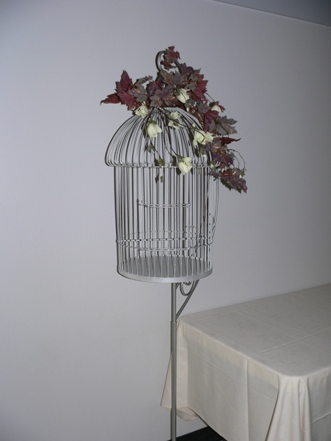 Silver Bird Cage with Floor Stand
