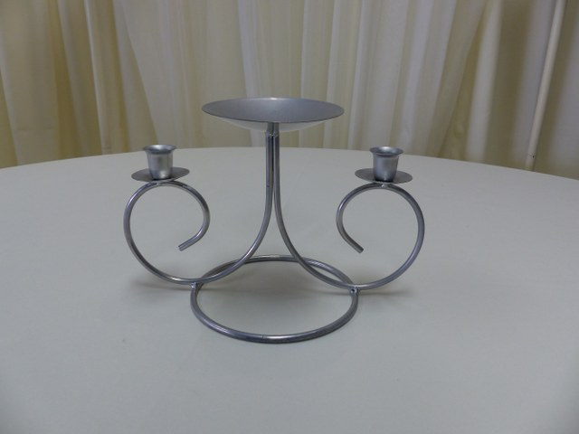 Silver Clover Unity Candle Holder