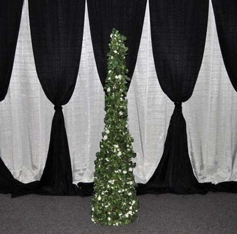 Topiary Tree with White Flowers