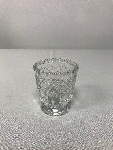 Vintage Clear Glass Votive Holder