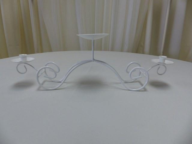White Bridge Unity Candle Holder