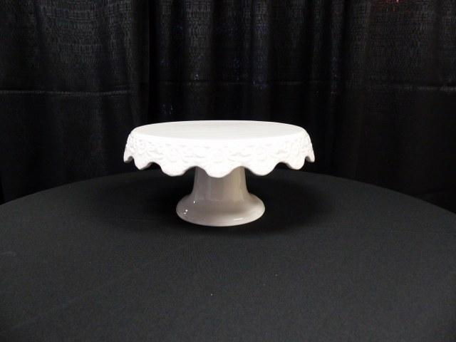 White Ceramic Cake Stand-8.5inch Diameter