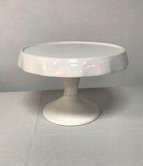 White Ceramic Cake Stand-9inch High x 13inch Diameter