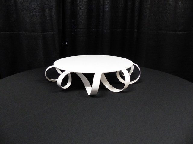 White Coil Cake Stand